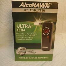 AlcoHAWK Ultra Slim Breathalyzer Portable Breath Alcohol Tester Detector D.O.T.
