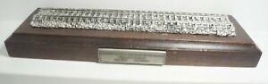 "Unknown Maker HO Scale/OO Gauge Wooden & Metal 10"" Inch Display Stand"
