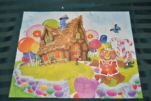 Vintage 1982 Candy Land MB 24 Piece Puzzle 15'' x 12.5''  4287-1 COMPLETE