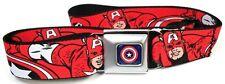 The Avengers Captain America Buckle-Down Belt Marvel Comics ADJUSTABLE! RED