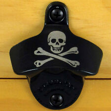 Black Pirate SKULL AND BONES Starr X Wall Mount Bottle Opener, NEW!!!