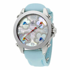 Jacob and Co. Five Time Zones Mother of Pearl Diamond Dial Ladies Watch JCMATH10
