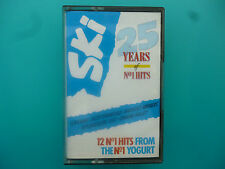 "VARIOUS ARTISTS  ""  SKI - 25 YEARS OF NO. 1 HITS  ""  CASSETTE ( 1988 )"
