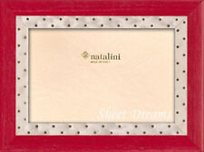 Natalini Marie Red Gold Dots Hand Made Italy Marquetry Photo Picture Frame