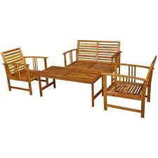 Outdoor Patio Furniture Acacia Wood Sofa Seating Set Deck Bench Table Chair Set