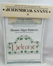Sana's Workshop Painting or Stenciling Pattern - Welcom House Sign