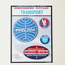 PAN-AM / AMERICAN AIRLINES Iron-On Patch Super Set #066 - FREE POSTAGE!