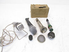 Lot with VINTAGE MICROPHONES and Parts, All For parts or repair