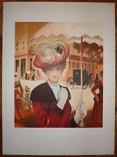 Peltriaux Bernard Lithographie signée numérotée belle époque art nouveau