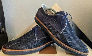Floris van bommel Halbschuh Sneaker Business blau Grösse 10,5 Top!