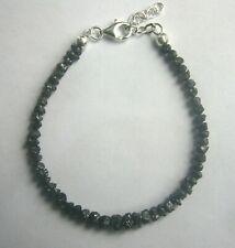 Rohdiamant Armband in schwarz, 17.20 ct., Edelstein, Kette, Collier