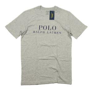 Polo Ralph Lauren Men's Gray Heather Logo Graphic Print Crew-Neck Sleep T-Shirt