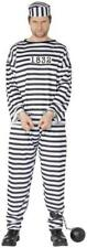 Convict Mens Prisoner Cops Robbers Theme Halloween Party Fancy Dress Costume X Large Chest to 48