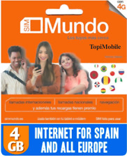 Tarjeta SIM/Micro/Nano de Prepago ORANGE MUNDO ROAMING EUROPE !4GB INTERNET