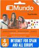 Tarjeta SIM/Micro/Nano de Prepago ORANGE MUNDO ROAMING EUROPE !6GB INTERNET