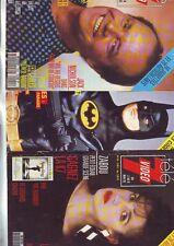 lot 15 couvertures de magazines potraits acteurs actrices années 80/90