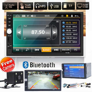 """2din Car Multimedia Player Autoradio Stereo 7"""" Touch Screen Video MP5 Camera"""