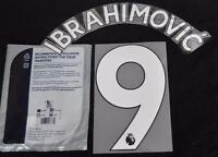 Manchester United Ibrahimovic 9 Premier League Football Shirt Name Set 2017/18