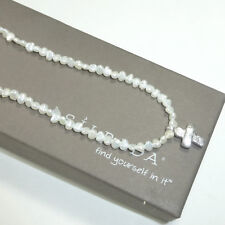 Silpada N2178 Freshwater Pearl Cross Necklace .925 Sterling Silver New Pendant