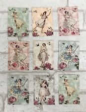 Vintage Retro Lady Style Card Toppers Gift Tags Craft Make Your Own Cards