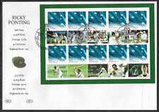 AUSTRALIA 2012 RICKY PONTING Souvenir Sheetlet FDC (No 1)