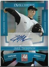 2010 Donruss Elite Jake Thompson Extra Edition Auto /699 Tampa Bay Devil Rays P