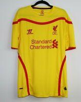 Liverpool Football Club Yellow Warrior Men's T-Shirt Jersey Size L