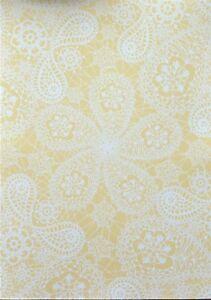 2 x A4 Crochet Lace Patt Backing Paper 120gsm Acid Free Green/Cream/Purple/Rust