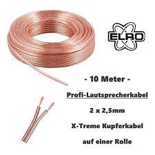 Premium 10m Lautsprecherkabel transparent 2 x 2,5 mm² Boxenkabel Kabel Kupfer