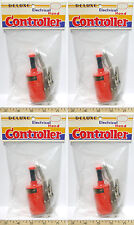 4pc Vintage TRADESHIP 1/24 /32 Slot Car DELUXE MODEL CONTROLLER +Alligator Clips