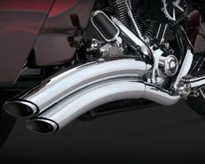 Vance & Hines 26063 Chrome Super Big Radius Exhaust Pipes System Harley Touring