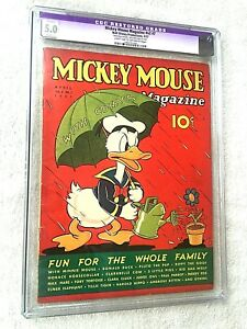 Mickey Mouse Magazine vol 2 #7 CGC 5.0 C-1 Walt Disney Productions April 1937