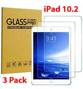 [3-Pack] Tempered GLASS Screen Protector for Apple iPad 8th Generation10.2 2020