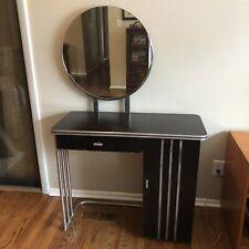 Machine Age Art Deco Royalchrome Dressing Table Vanity 1936