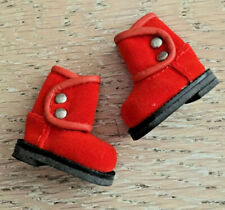 orange suede Cool Cat ankle boots for Blythe doll, brand new