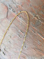 "14 KT Yellow Gold Pendant Link Diamond Cut Cable Chain Necklace 18"" Length NEW"