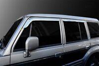 SAFE Chrome Wind Deflectors 4p compatible with 1998-2003 Hyundai Galloper