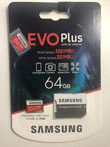 Samsung Memory 64gb Evo Plus Micro SD Speicherkarte mit Adapter