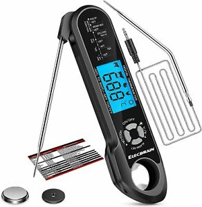 2 in 1 Dual Probe Digital Instant Read Food Meat Thermometer BBQ Candy Liquids