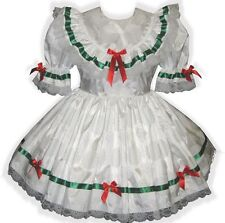 """Rebecca"" Custom Fit SATIN HOLIDAY Adult LG Baby Sissy Dress LEANNE"