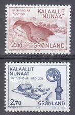 Greenland 1982 Mi 138-139 Sc 148-149 MNH Eskimos hunting whale Bishop Smyrill XF