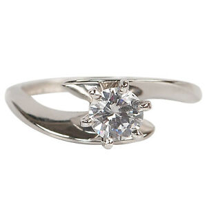 G-H Color 0.55Ct (5.50mm app.) VS2 Natural Diamond Solitaire Ring In 14KT Gold