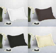 "1 Pair 2 Pieces Standard Pillow Shams 20"" x 26"" + 1.5"" Solid Colors Machine Wash"