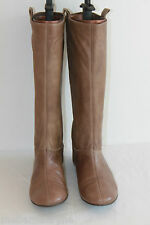 Bottes ANDRE Cuir Souple Marron Taupe Talons Plats  T 38 BE