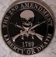 Car Grill Badge 2nd Second Amendment NEW metal including mounting hardware