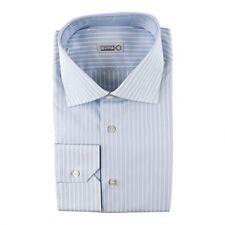 $710 NWT ZILLI Blue Striped Oxford Cotton Classic Fit Dress Shirt 15 3/4 M 40