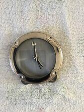 MOVADO BLACK ROUND TRAVEL ALARM CLOCK WITH CASE BRAND NEW ORIGINAL BOX