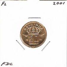 Belgium / Belgique french 50 centimes 2001 BU - KM148.1