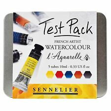 Sennelier L'Aquarelle watercolour paint Test Pack 10ml tubes 5 tubes