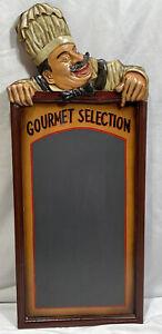 "Chef's Gourmet Selection Menu Board Wooden Chalkboard 30""x12.25"""